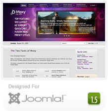 Rocket Theme's Moxy Joomla Template