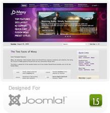 Rocket Theme's Moxy Joomla Template
