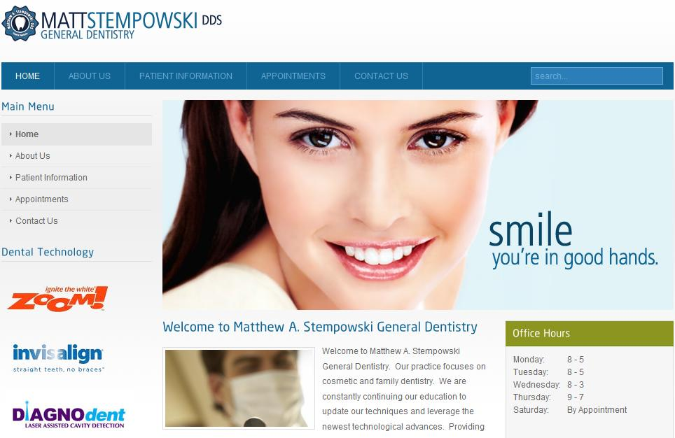 Matthew A. Stempowski, DDS Website Designed By The Software Shop